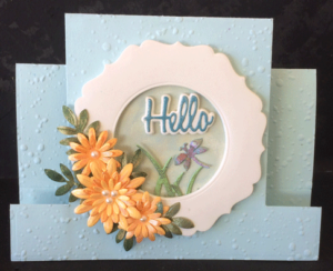 * * * Center Step Floral Frame